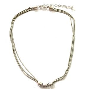 Modernist Silver Necklace